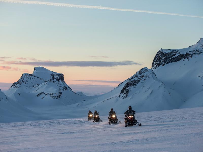 Snowmobile Langjokull Iceland