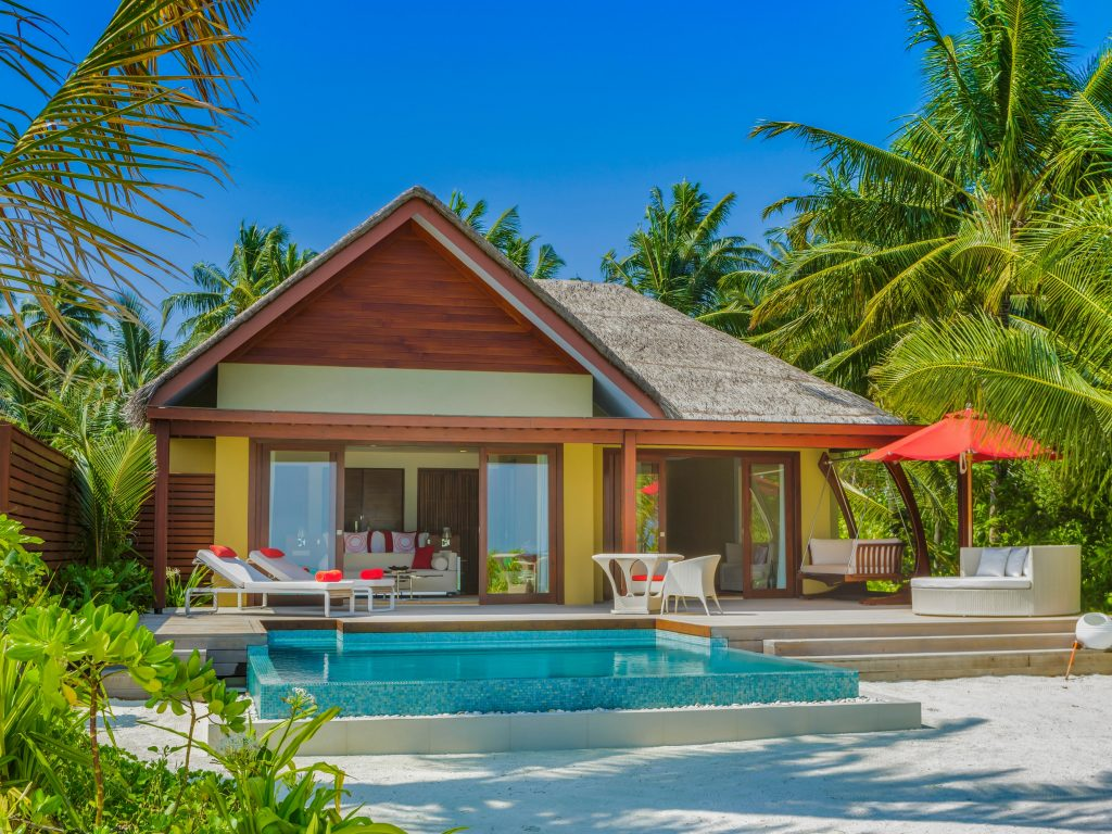 A beach pool suite
