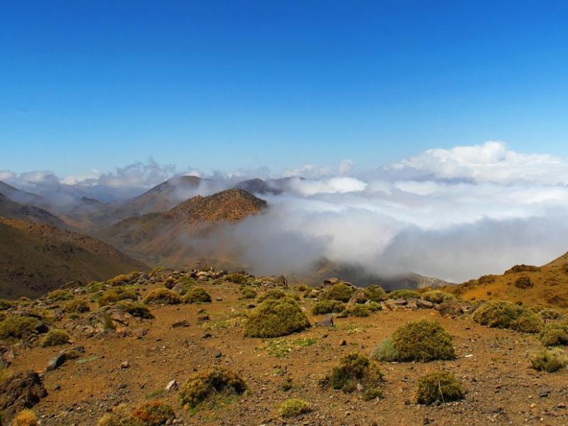 Take a private hot air balloon flight over the Atlas Mountains