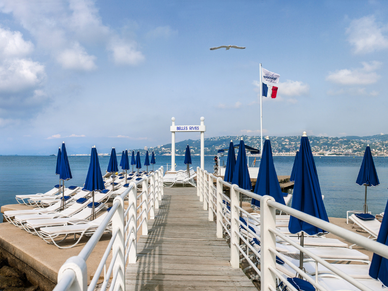 Beach Hotel Belles Rives Cap d'Antibes French Riviera France