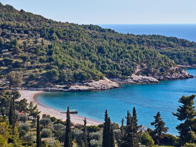 Beach Landscape Spetses Greece