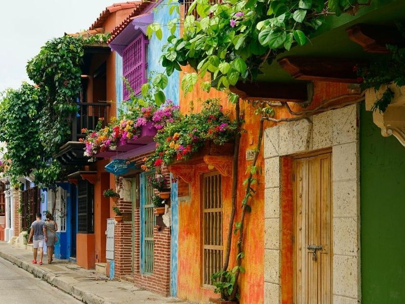 Colourful houses Cartagena Colombia