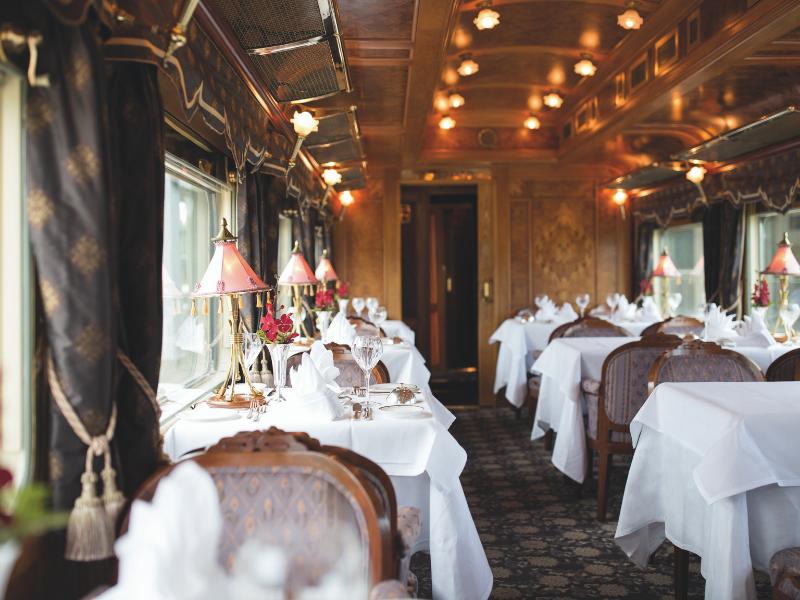 Dining aboard the Belmond Eastern Oriental