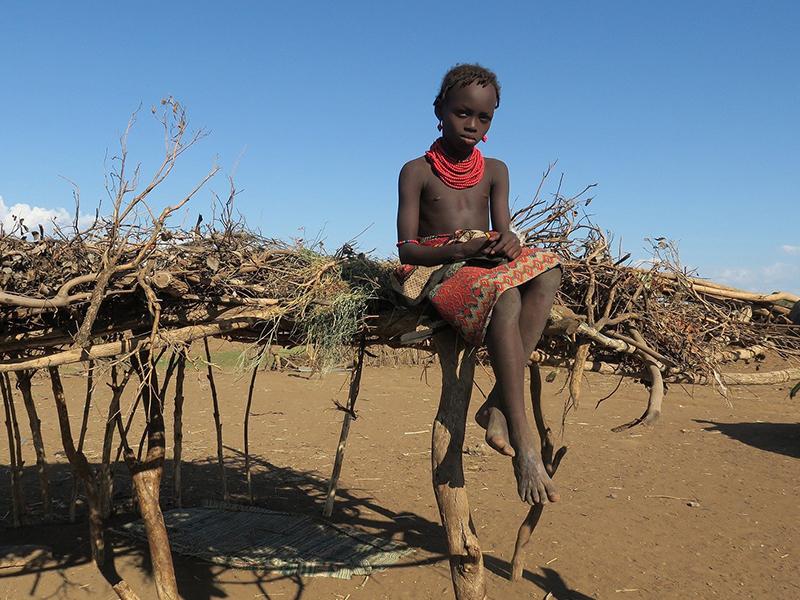 Dassanech village Tribal girl