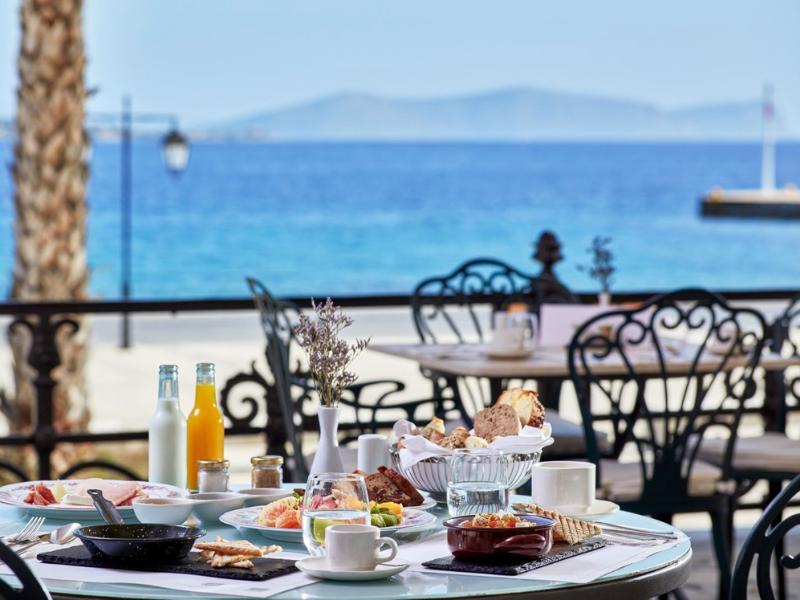 Dining al fresco Poseidonion Spetses Greece