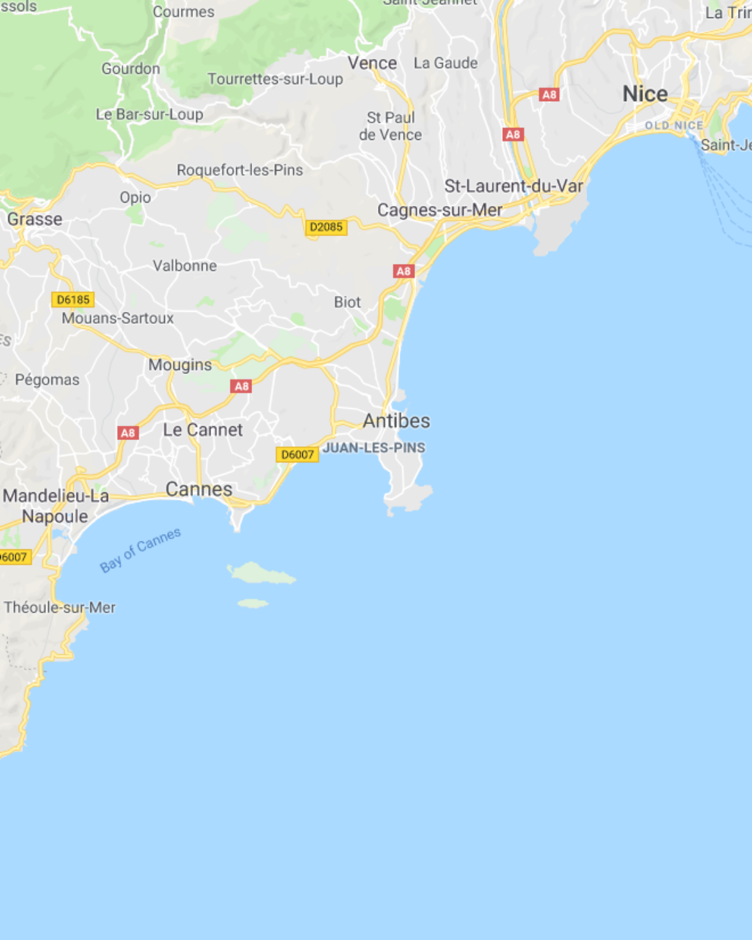 Fly from Dublin to Nice Cote d'Azur to Cap d'Antibes French Riviera France