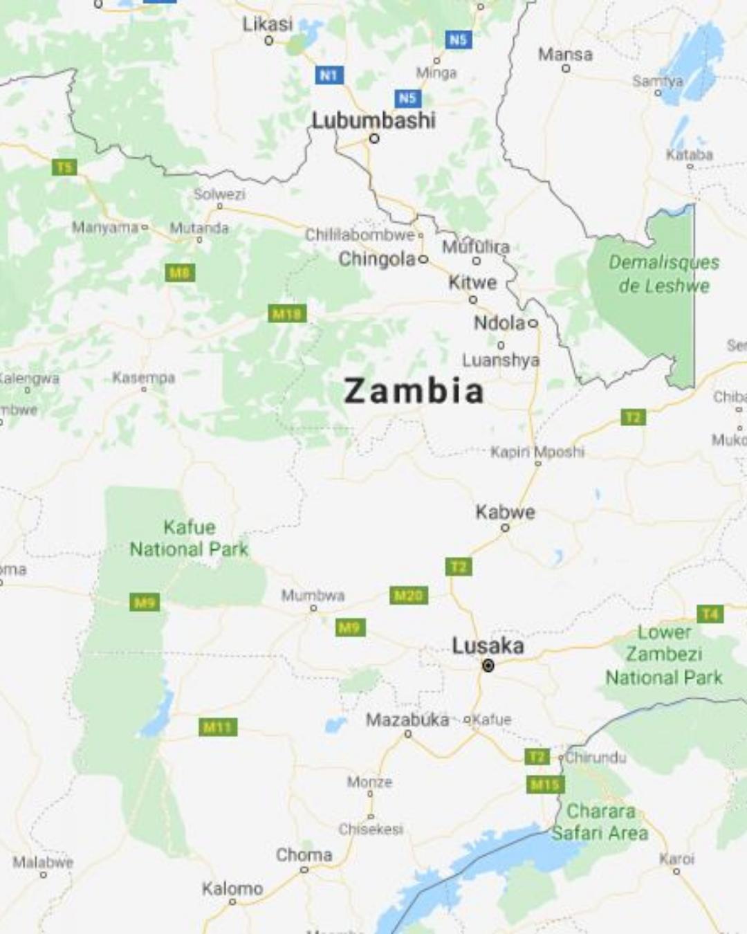 Fly to Lusaka Zambia