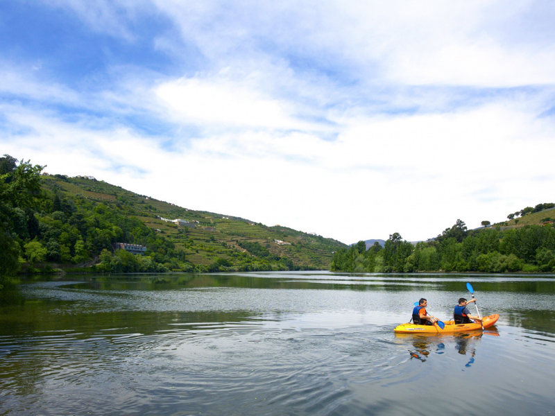 For adventure seekers kayak through the Douro River Portugal