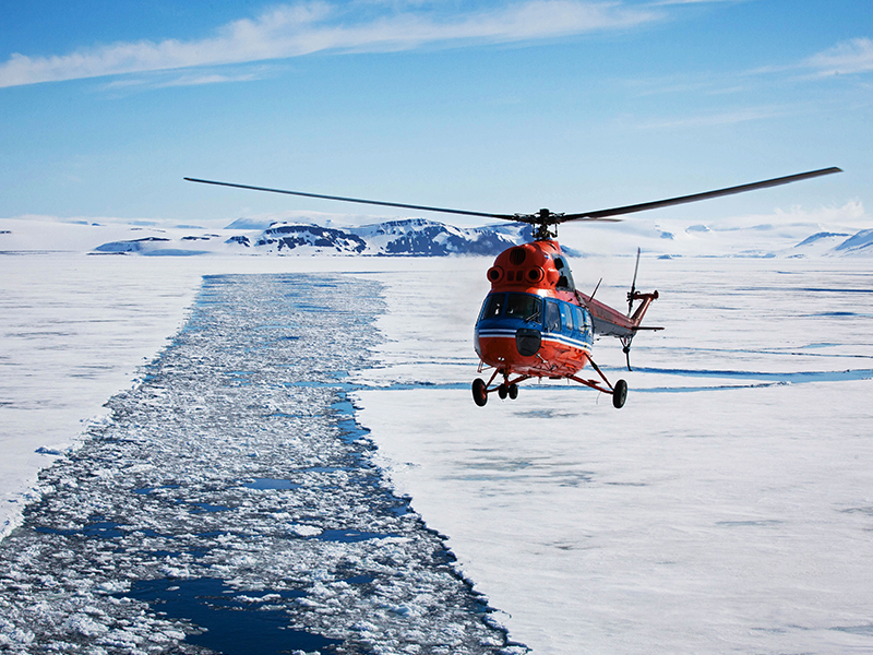 Helicopter North Pole