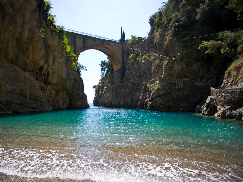 Hidden coves of Fjord of Furore Amalfi Coast