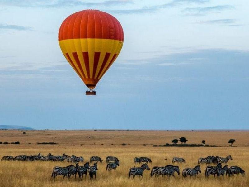 Hot air balloon safari, Kenya