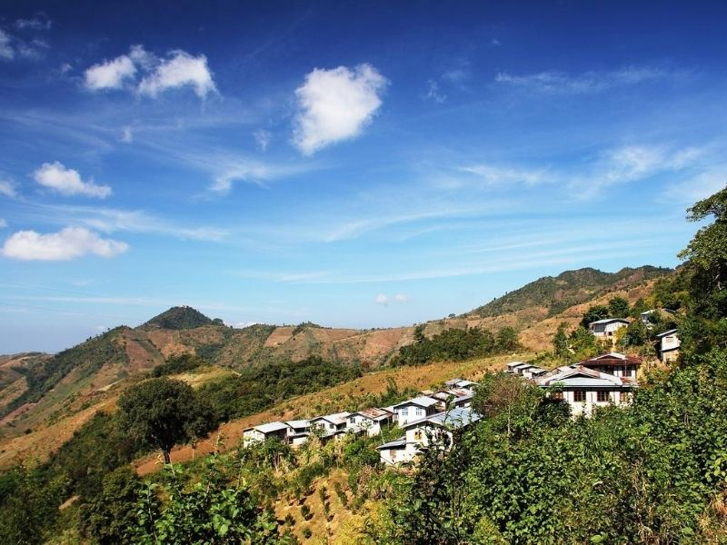 Kalaw Mountain houses
