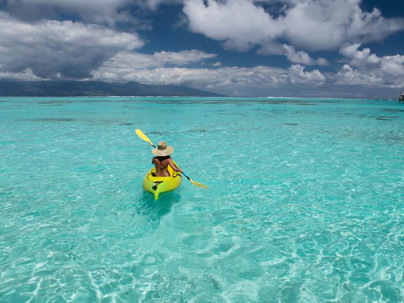 Kayaking in Sofitel la Ora Beach Resort French Polynesia