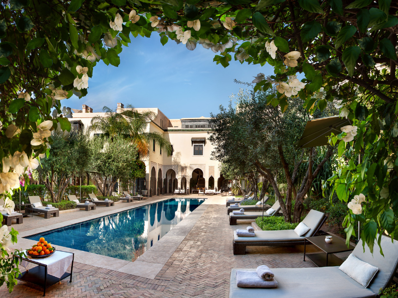 Stay in the luxurious riad property, La Villa des Orangers