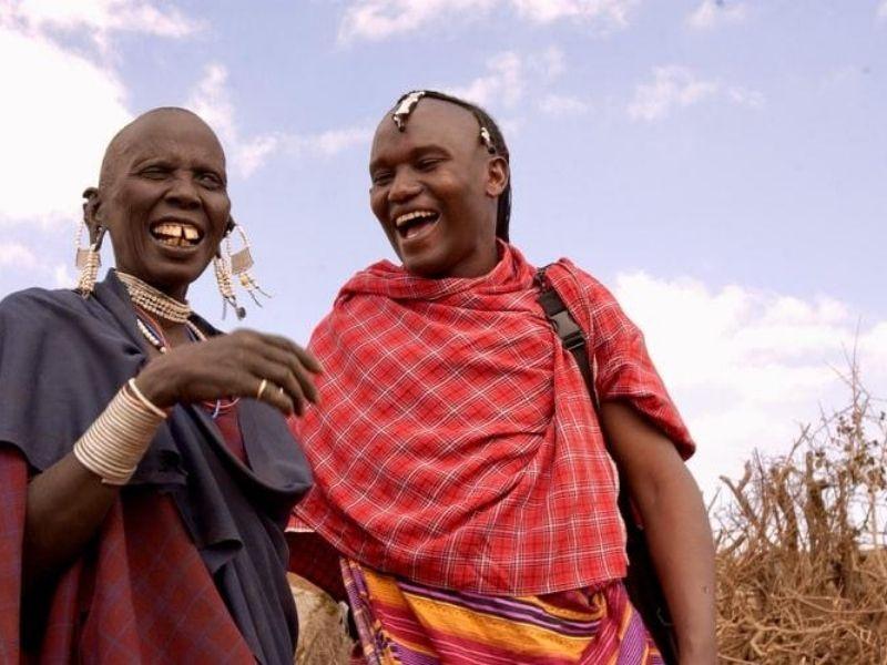 Maasai family, Kenya
