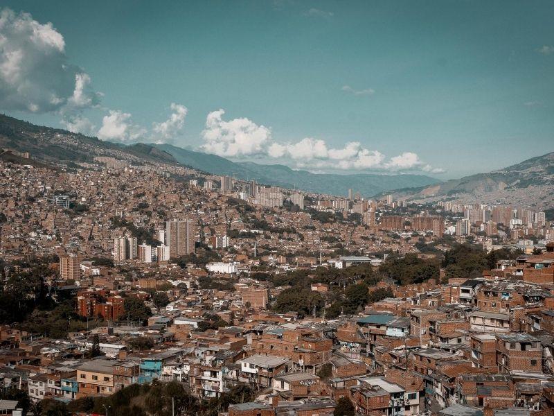 Medellin aerial view
