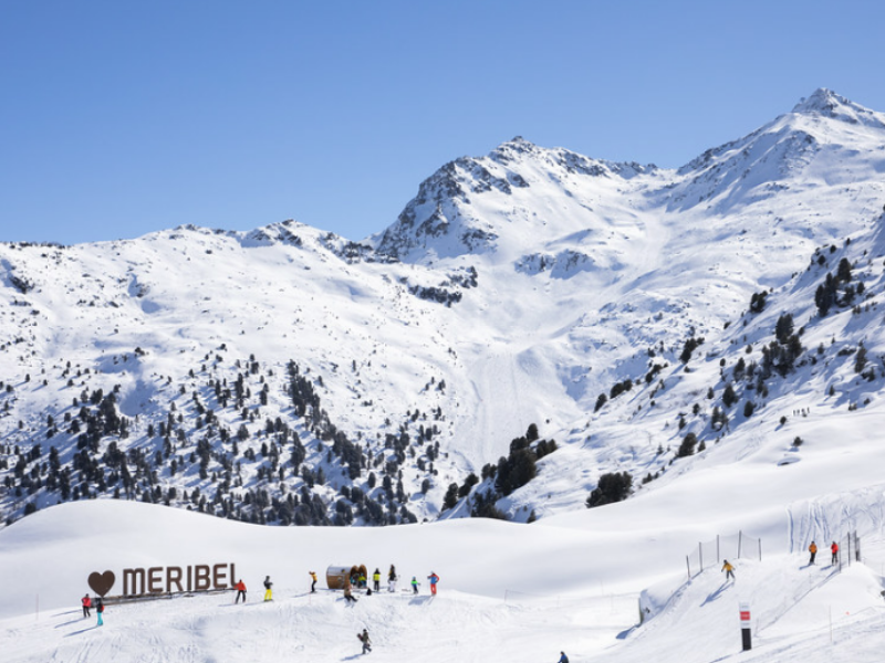 Meribel slopes