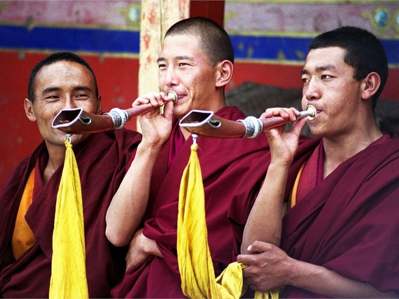 Monks at Tashilhunpo Monastery