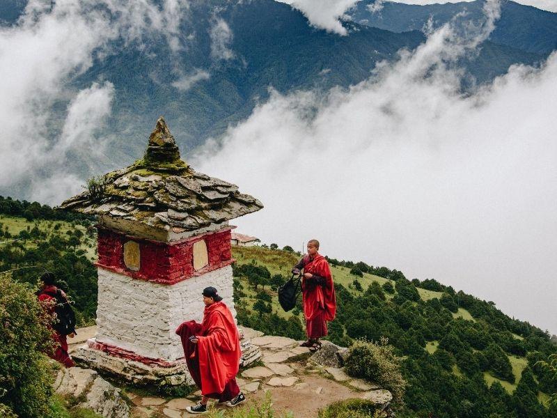 Monks in Thimphu, Bhutan