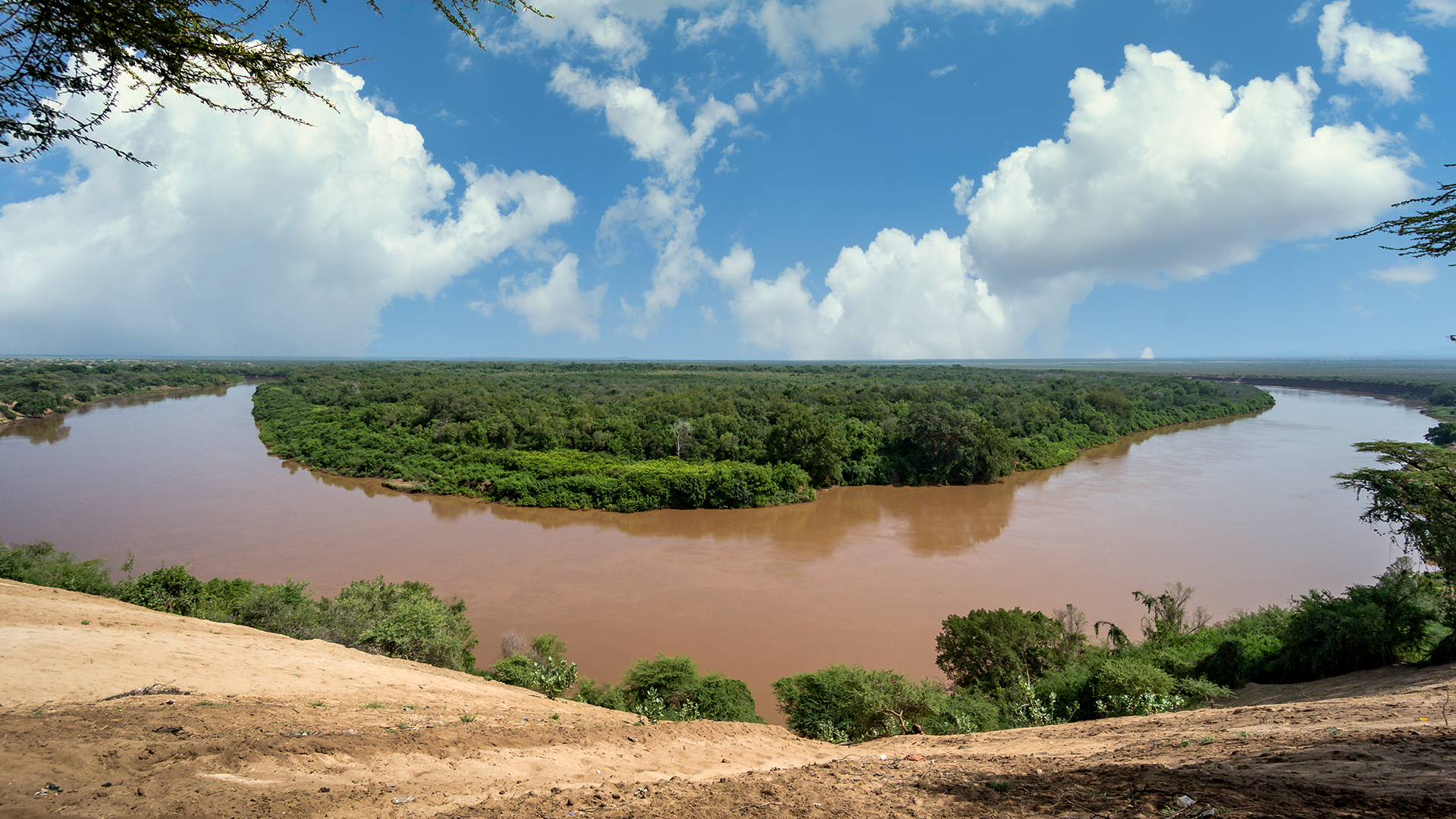 Omo River Valley view