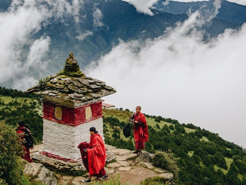 Monks in Thimphu