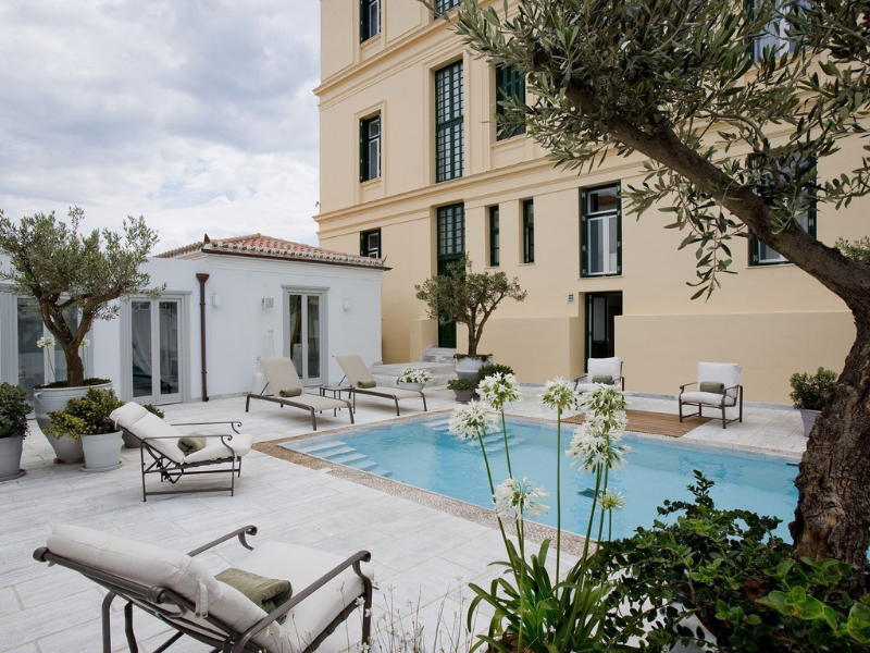 Outdoor Pool and Spa Spetses Greece