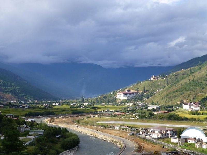 Paro River & Dzong View