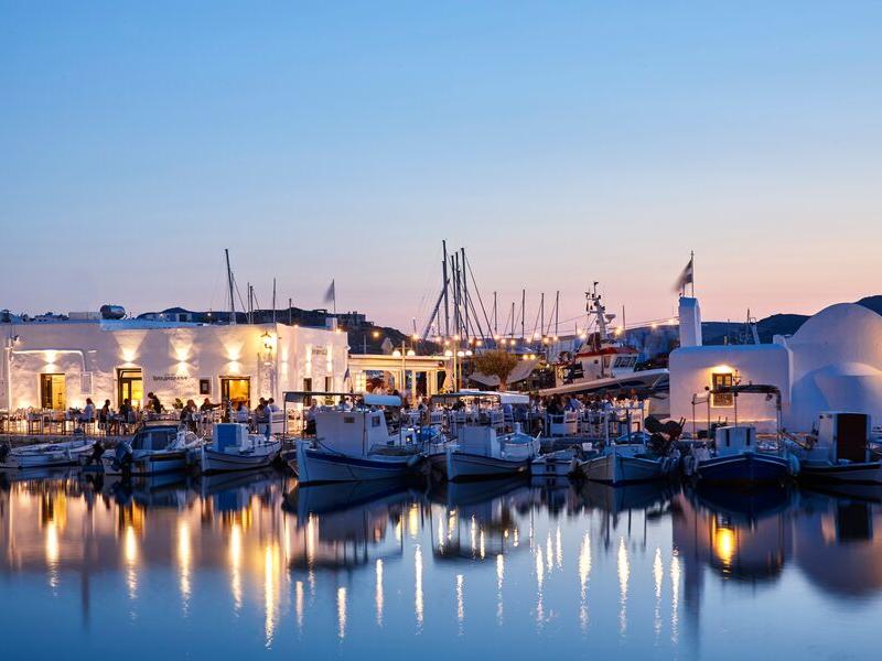 Paros Harbour Greece