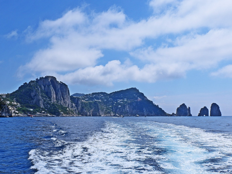 Private boat trip Sorrento to Capri Italy