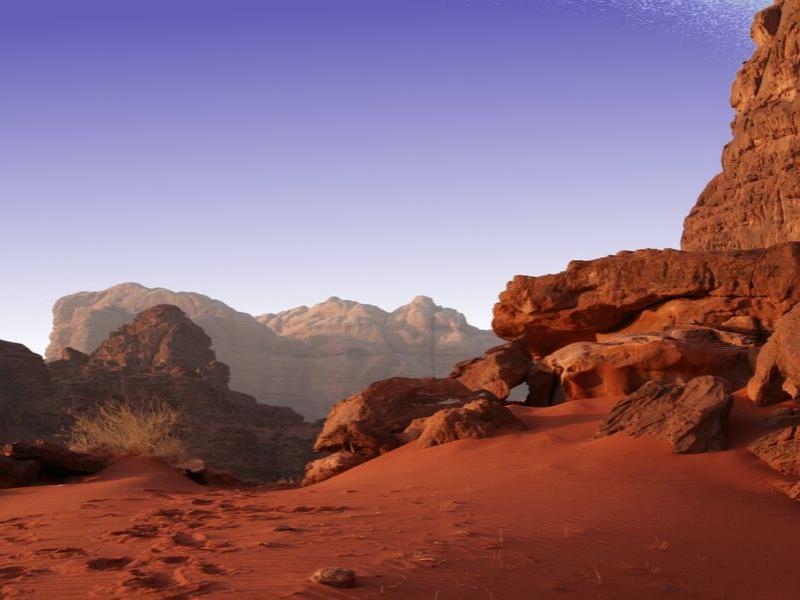 Red Wadi Rum Desert Sands Jordan