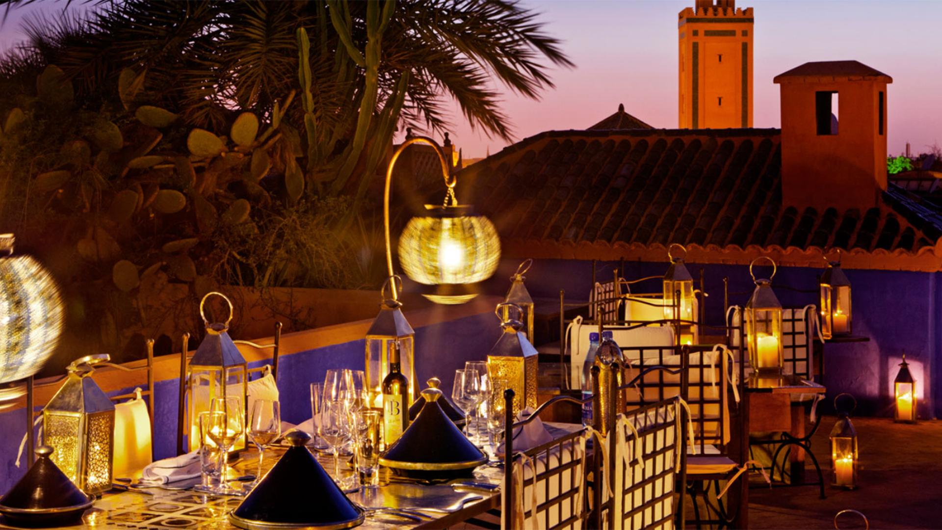 Riad-Farnatchi-by-night-Marrakech-Morocco