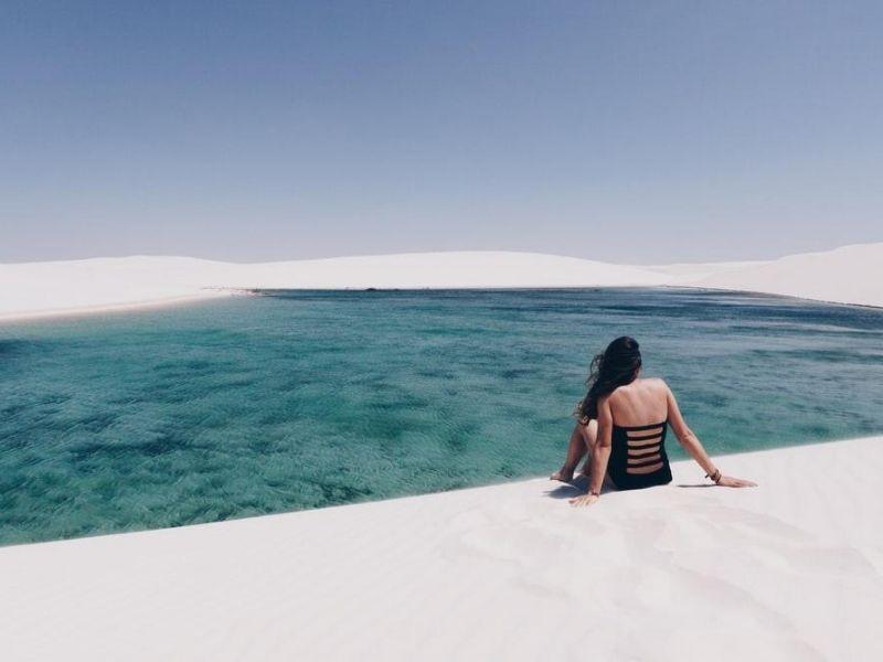 Sand dune lagoons, Brazil