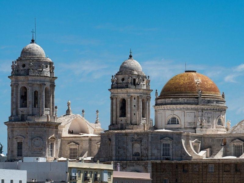 Spain - Cadiz Mosque roofs