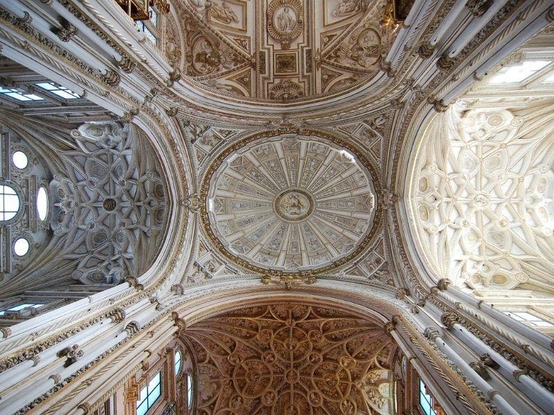 Spain - Cordoba Mezquita ceiling