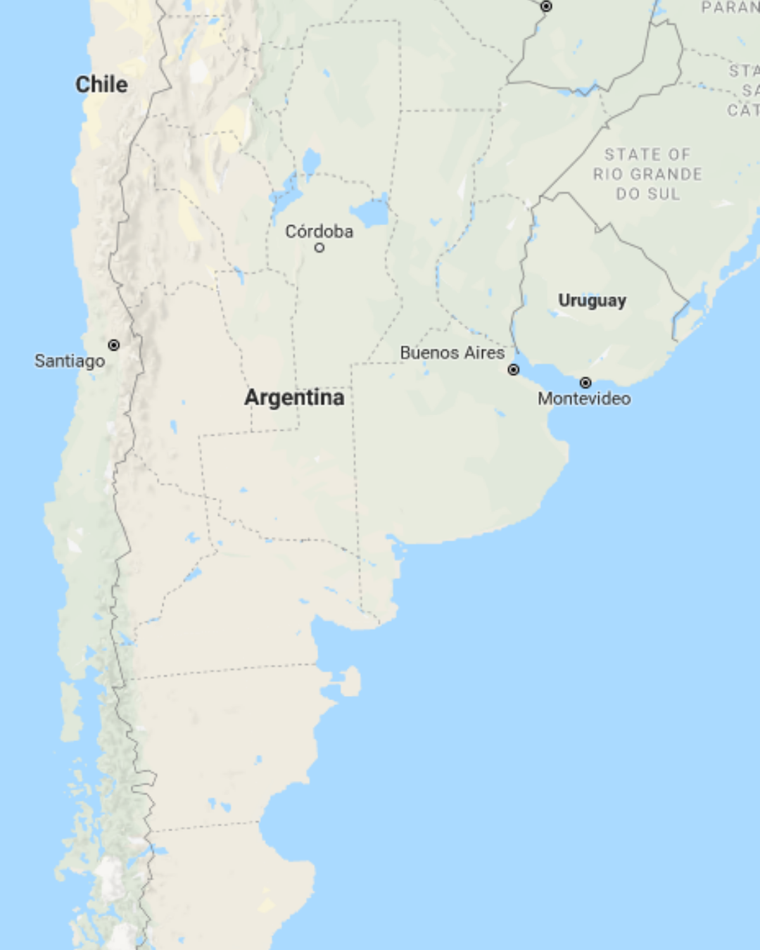 Start in Buenos Aires Argentina