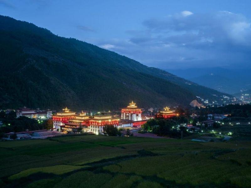 Thimphu Dzong from distance