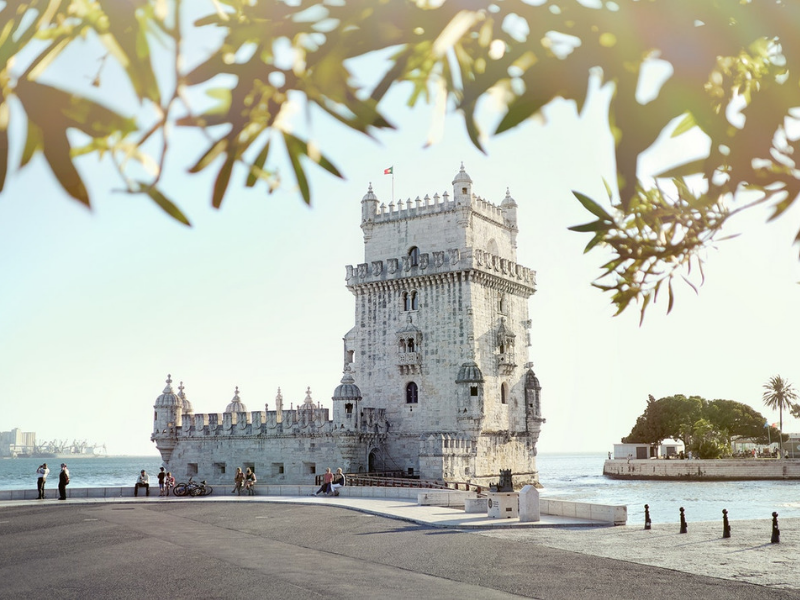 Tower of Belem during private tour in Lisbon Portugal
