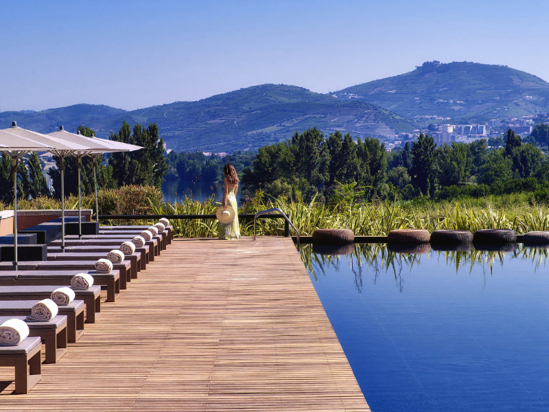 Unwind at the outdoor saltwater pool at Six Senses Douro Valley Portugal