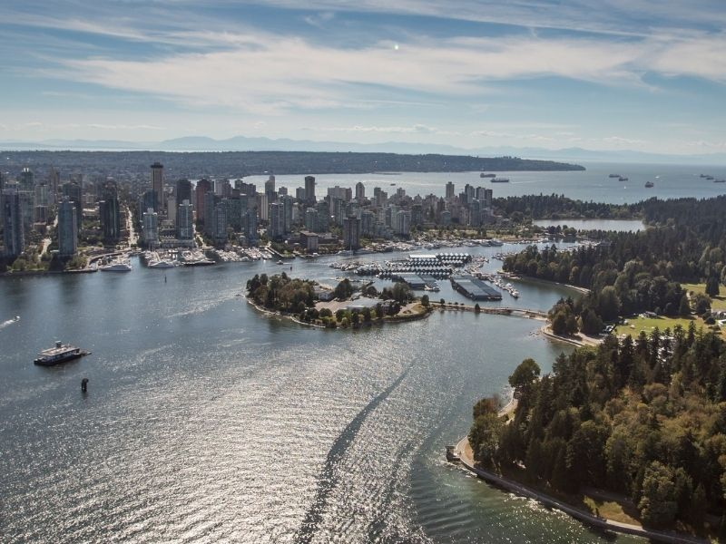 Vancouver Aerial Bay View