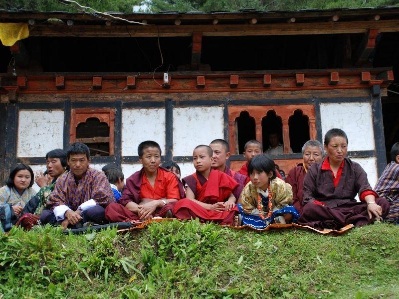 Village Festival Onlookers