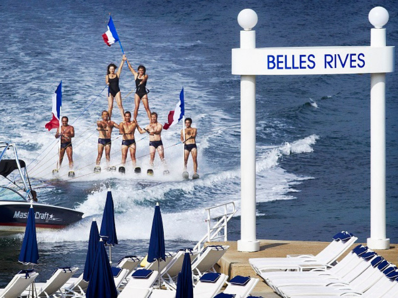 Water Ski at Hotel Belles RIves Cap d'Antibes French Riviera France