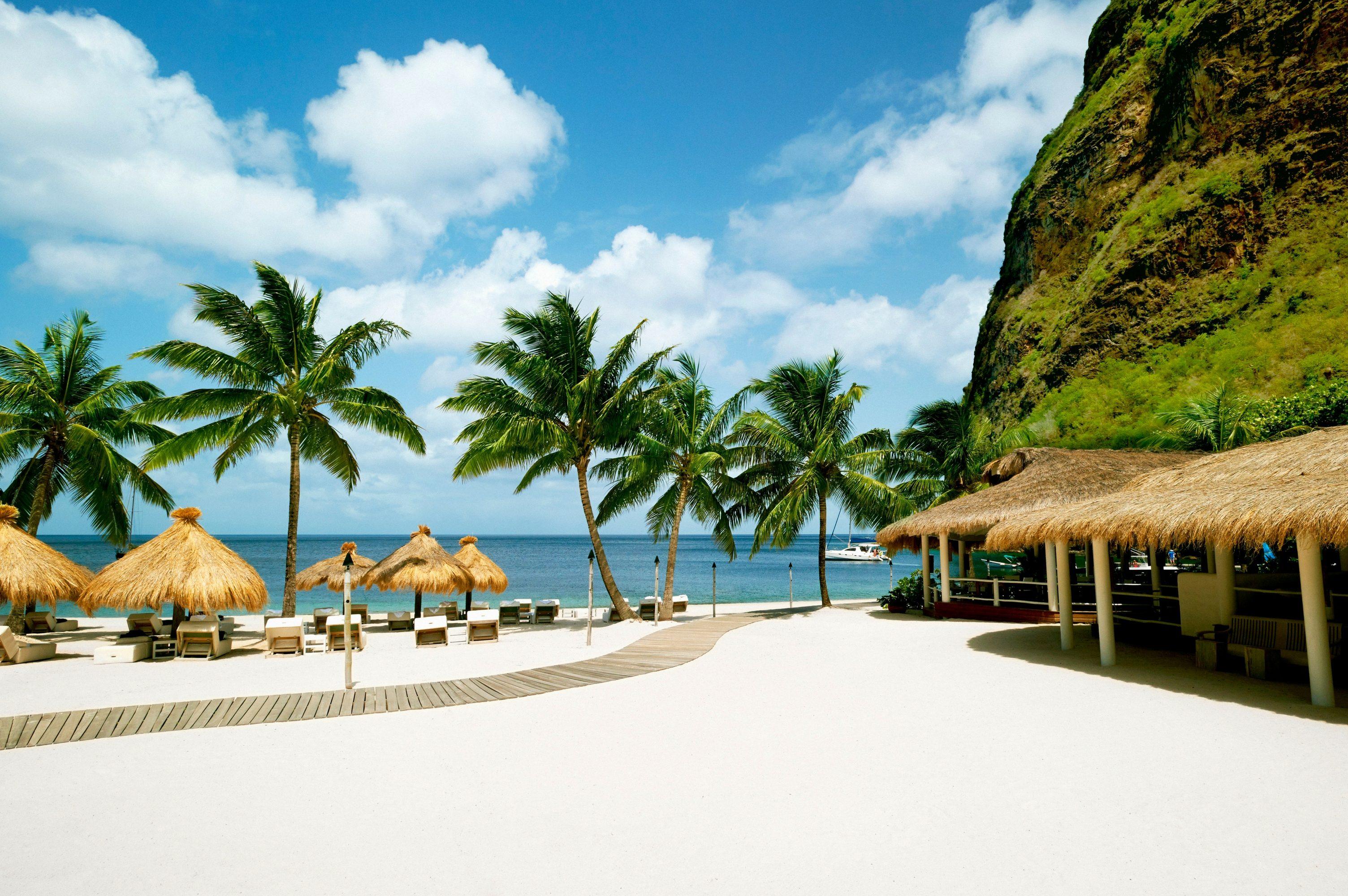 White sand St Lucia