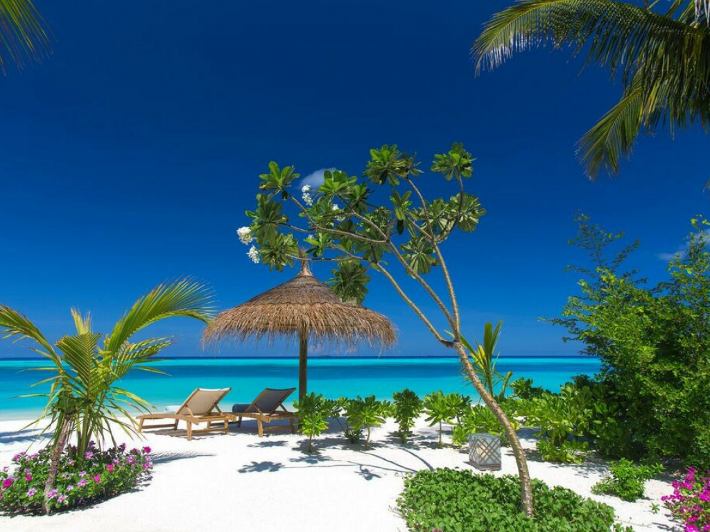 White-sand beaches