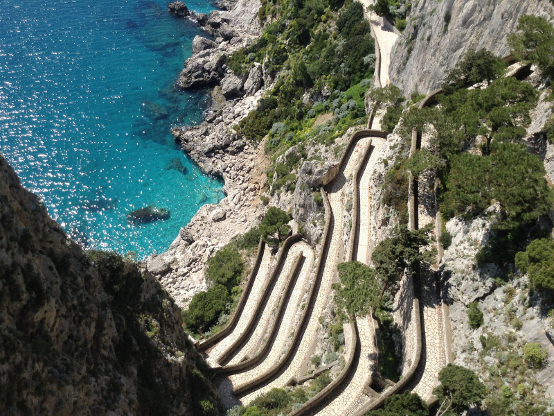 Witness the beauty of Capri from the Gardens of Augustus Amalfi Coast